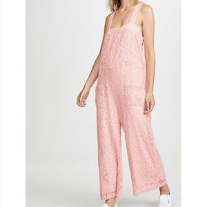 NWOT Line and Dot Corona pink lace jumpsuit